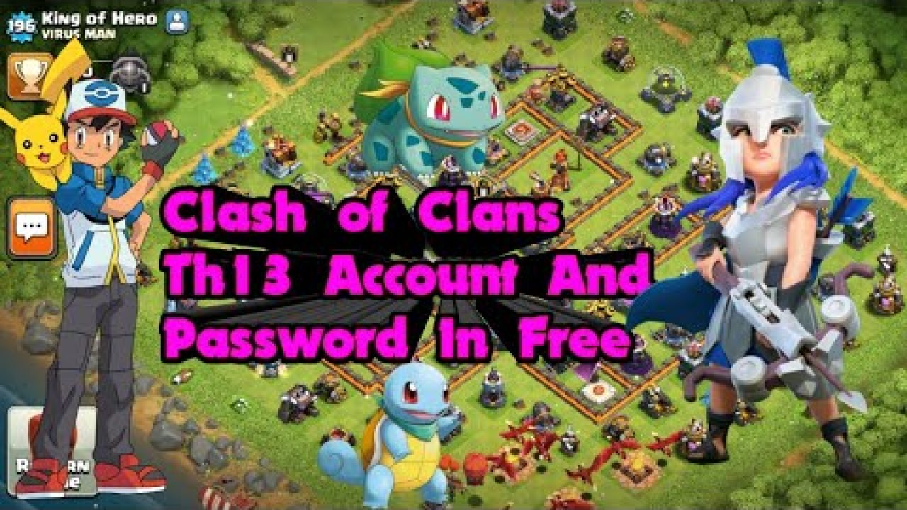 Th13 I D Email And Password In Free Of Clash Of Clans 100 2020 Gaming News