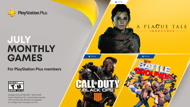 July 2021 PS Plus free games